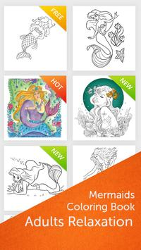 Mermaids: Coloring Book for Adults poster