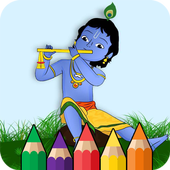 Lord Krishna Coloring Pages icon