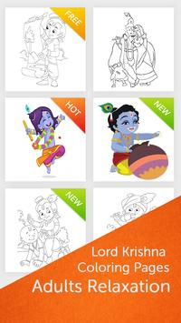 Lord Krishna Coloring Pages poster