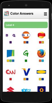 Answers for Logo Quiz (Colors) poster