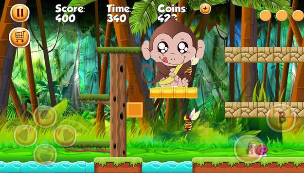 Funky Monkey Course de singe banana apk screenshot