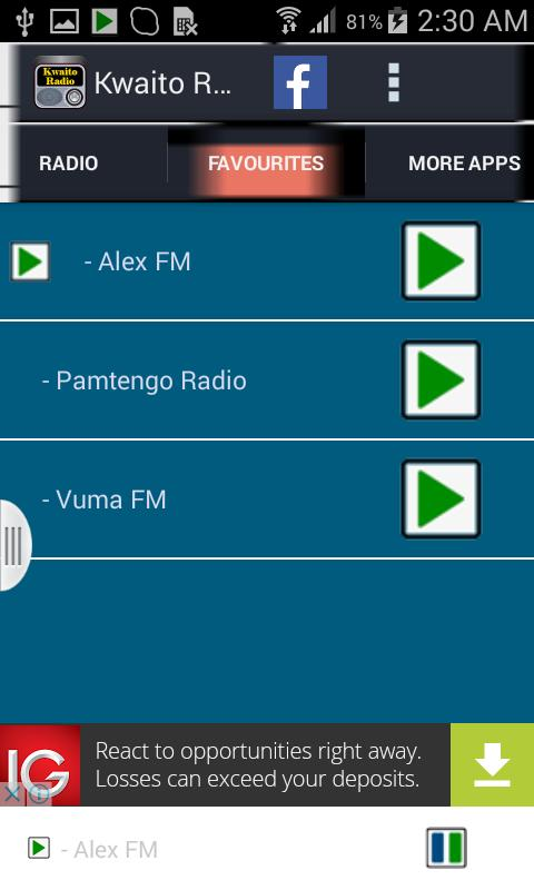 Kwaito music radio for android apk download.