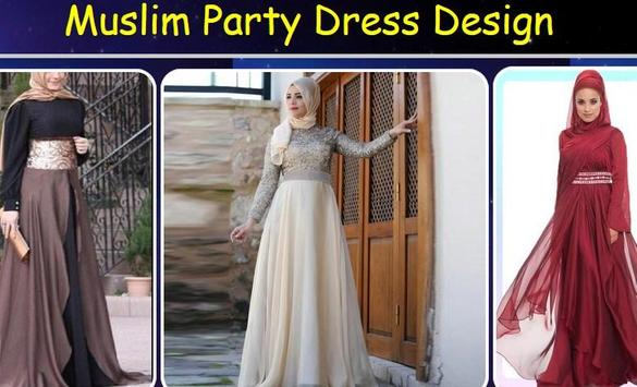 Muslim Party Dress Design poster
