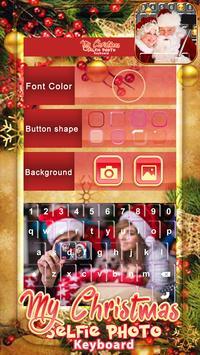 My Christmas Selfie Photo Keyboard poster