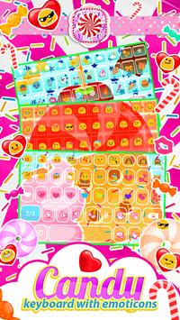 Candy Keyboard with Emoticons screenshot 3