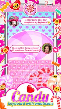 Candy Keyboard with Emoticons poster