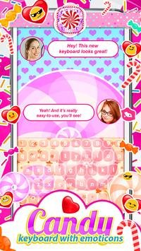 Candy Keyboard with Emoticons screenshot 1