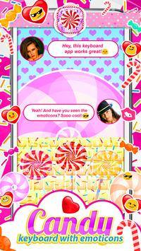 Candy Keyboard with Emoticons screenshot 2
