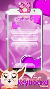 Cute Love Keyboard Themes apk screenshot