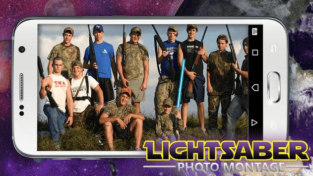 Lightsaber Photo Montage poster