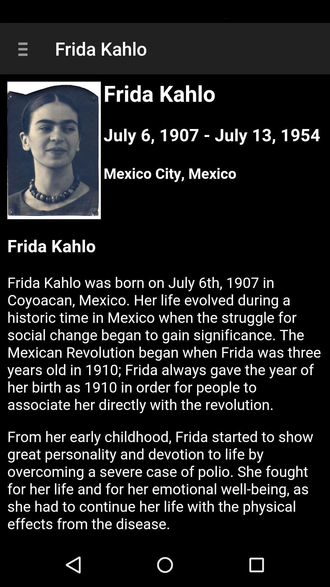 Frida Kahlo - The Official App for Android - APK Download