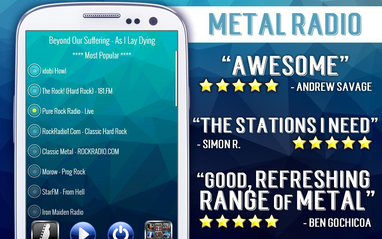 Free metal radio for android apk download.