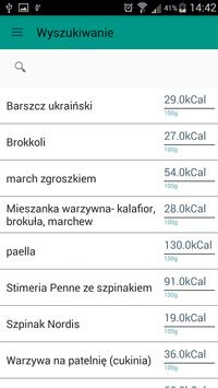 Tabela i licznik kalorii apk screenshot