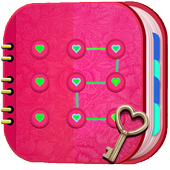 Cute Personal Diary with Fingerprint Lock icon