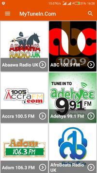 MyTuneIn.Com - Ghana Radio Stations poster