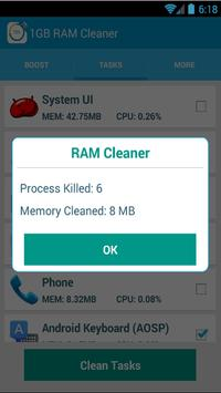 1 GB Ram Cleaner screenshot 3