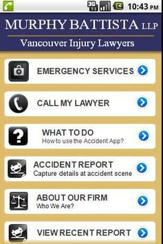 Accident App Murphy Battista apk screenshot