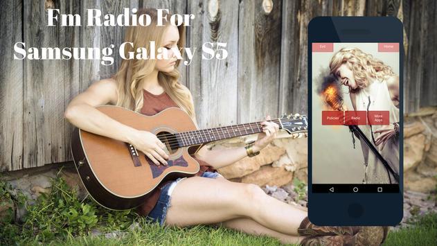 Fm Radio for Samsung Galaxy S5 poster