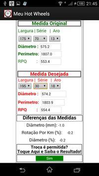 Cálculo de Rodas apk screenshot