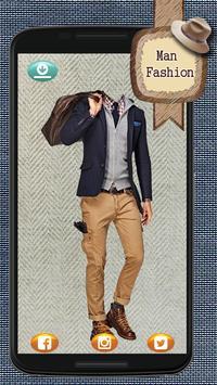 Man Fashion Photo Montage poster