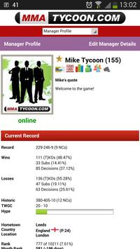 MMA Tycoon - Sports Manager apk screenshot