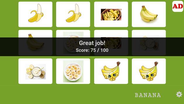 Memory Game - Banana MMG002 screenshot 3
