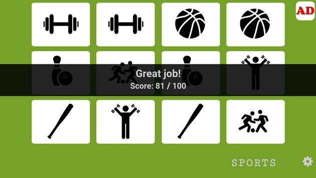 Memory Game - Sports 002 screenshot 3