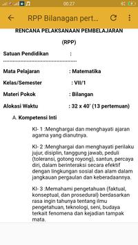 RPP MTK kurikulum 2013 kls VII screenshot 1