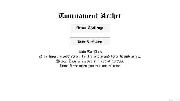 Tournament Archer - Bow & Arrow Competition poster