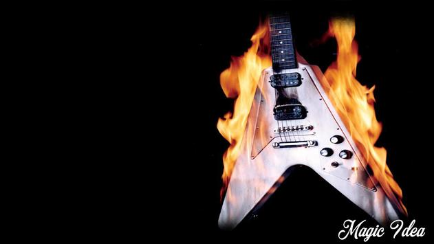 Fire Guitar Pack 2 Wallpaper For Android