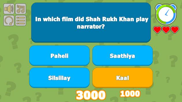 SRKian Fan Quiz apk screenshot
