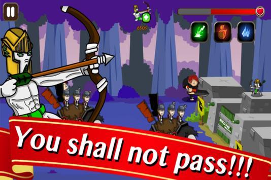 Castle Gym Defense – Strategic Archer Defense Game poster