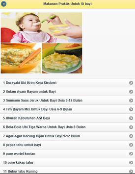 Makanan Praktis Untuk Si bayi apk screenshot