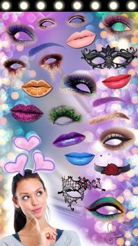 Makeup Photo Booth App 👄💄 apk screenshot