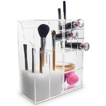 Acrylic Makeup Brush Holder screenshot 11