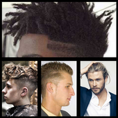 odern style of men's hair icon