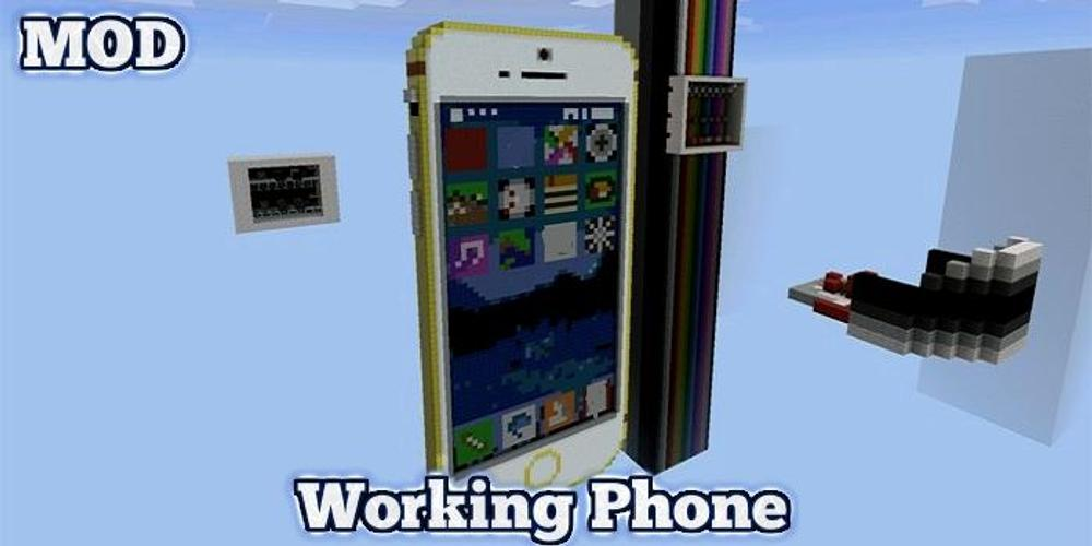 механизм телефон iphone работающий в майнкрафте #8