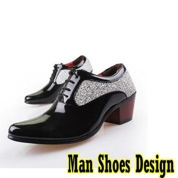 Design men's shoes poster