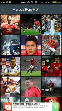 HD Marcos Rojo Wallpaper poster