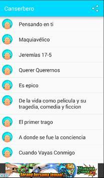 Canserbero Top Letras apk screenshot