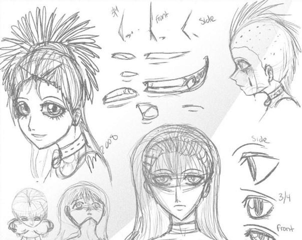 Galeri Sketsa Gambar Manga Karya Anak Anak Sketsa Gambar