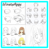 Manga drawing icon