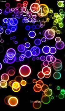 Neon Bubbles Lock Screen screenshot 3