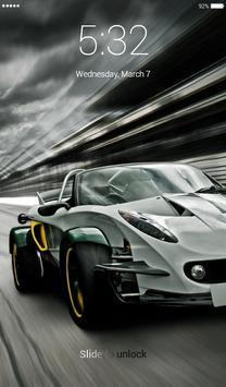 Racing Car Lock Screen screenshot 3