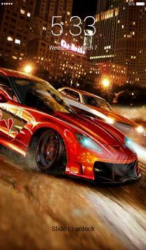 Racing Car Lock Screen screenshot 1