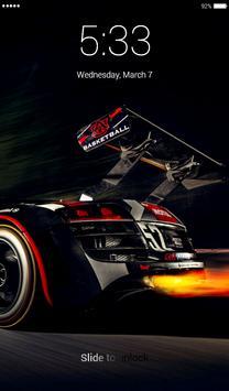 Racing Car Lock Screen screenshot 4