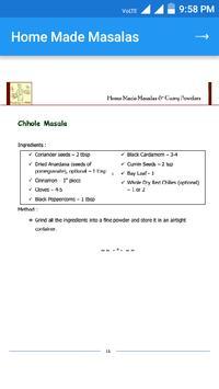 Homemade Masala Recipe screenshot 5
