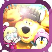 Super Mashaa Running And The Bear icon