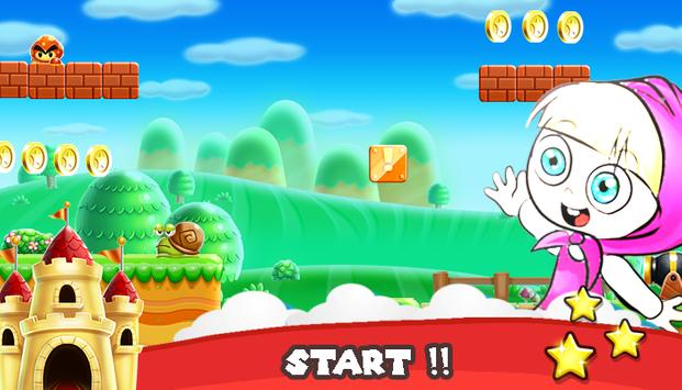 Super Mashaa Running And The Bear apk screenshot