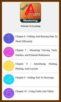 Learn Mastering AutoCAD 2015 2 poster